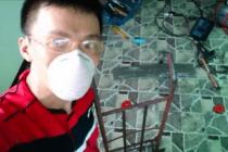 自宅で溶接の練習。フィリピンの電源と日本の200V溶接機